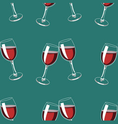 seamless pattern background with glasses red vector image