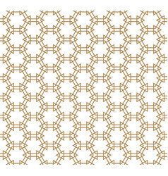 Seamless pattern based on kumiko in golden color vector