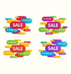 set of colorful horizontal sale banners vector image