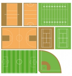sport fields vector image vector image