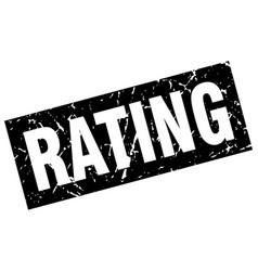square grunge black rating stamp vector image