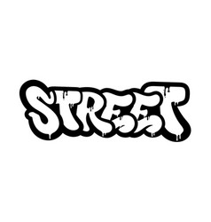 Street graffiti vector