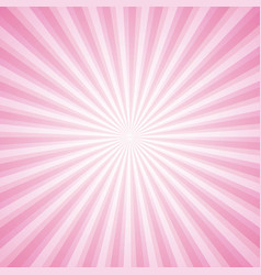 striped pink ray burst background vintage vector image