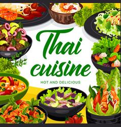Thai cuisine asian food dishes vector
