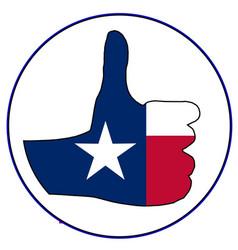 Thumbs up texas vector