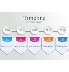 Timeline company template vector