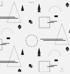 trendy geometric elements memphis pattern vector image