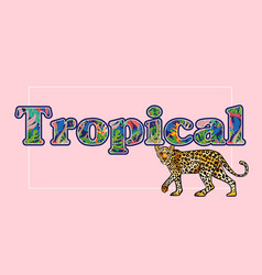 tropical leopard print vector image
