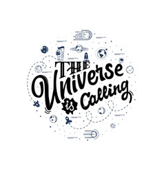 Universe is calling space travel vector