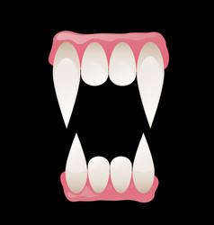 vampire fangs vector image