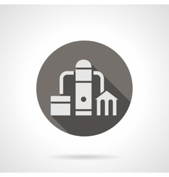 Water filtering station round flat icon vector