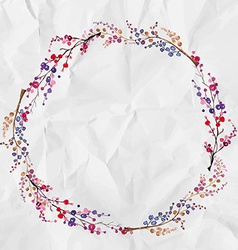 watercolor flower wreath background vector image