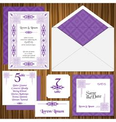Wedding Invitation Card Set vector