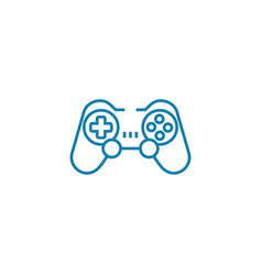 wireless gamepad linear icon concept wireless vector image