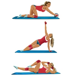 Young sexy sports woman vector image