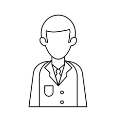 character doctor uniform health outline vector image