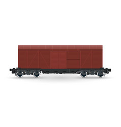Closed wagon isolated on white background vector