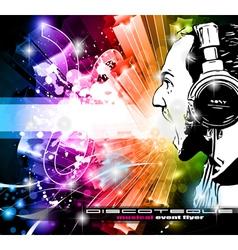 dj poster vector image vector image