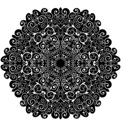 doily pattern background with isolation on a white vector image