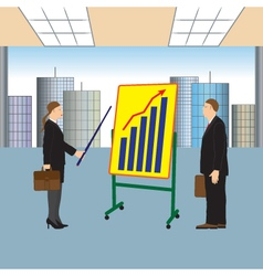 Meeting two businessmen Presentation vector image