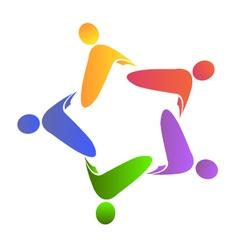 teamwork concepts logo vector image vector image