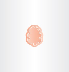 abstract brain icon mind symbol vector image