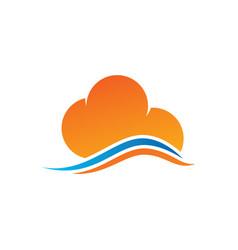 abstract cloud logo design vector image