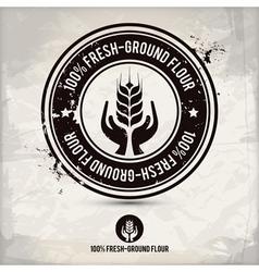 alternative fresh-ground flour stamp vector image