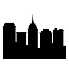 city silhouette building tower antenna urban vector image