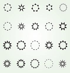 Geometric star logo template set vector image