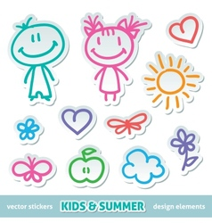 hand drawn kids vector image vector image