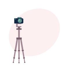 professional photo studio equipment set - camera vector image vector image