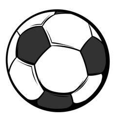 soccer ball icon cartoon vector image vector image
