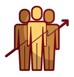 teamwork people growth arrow profit financial vector image