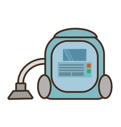 Carton vacuum cleaner appliance cleaning house vector