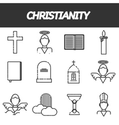 Christianity icons set vector image vector image