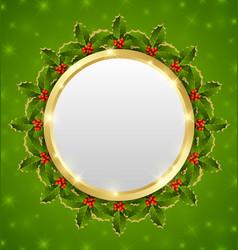 Christmas plaque vector