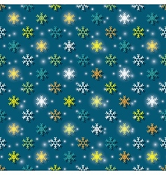colored snowflakes background vector image vector image