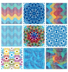 Colorful backgrounds collection vector image vector image