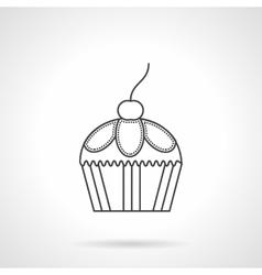 Cupcake dessert flat line design icon vector image vector image