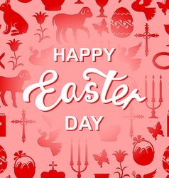 Easter cet red text vector
