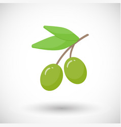 Olive branch flat icon vector