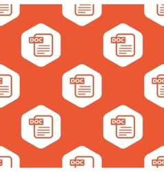 Orange hexagon DOC file pattern vector image