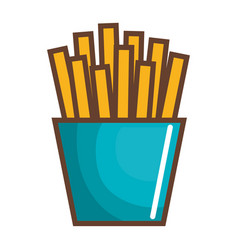 potatoes fries isolated icon vector image vector image