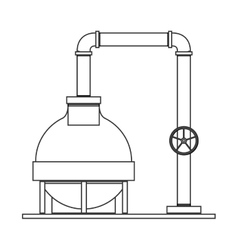 silhouette with plant pump for oil vector image