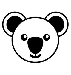 simple line art of a cute koala vector image