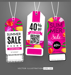 summer sale event vector image