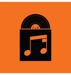 Vinyl record in envelope icon vector image
