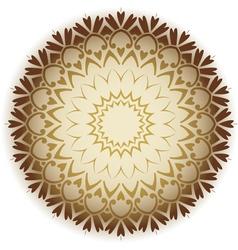 damask circle vector image