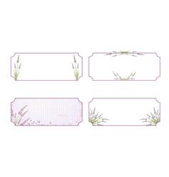 Lavender flower label collection vector